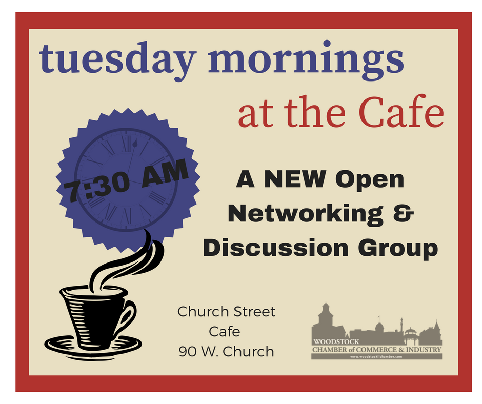 Tuesdays at the Cafe Networking starts March 6th