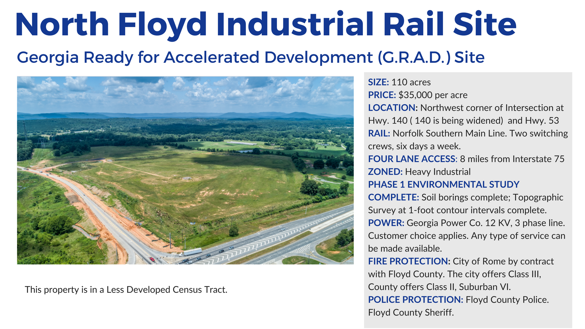 North Floyd Rail Site in Rome and Floyd County Georgia