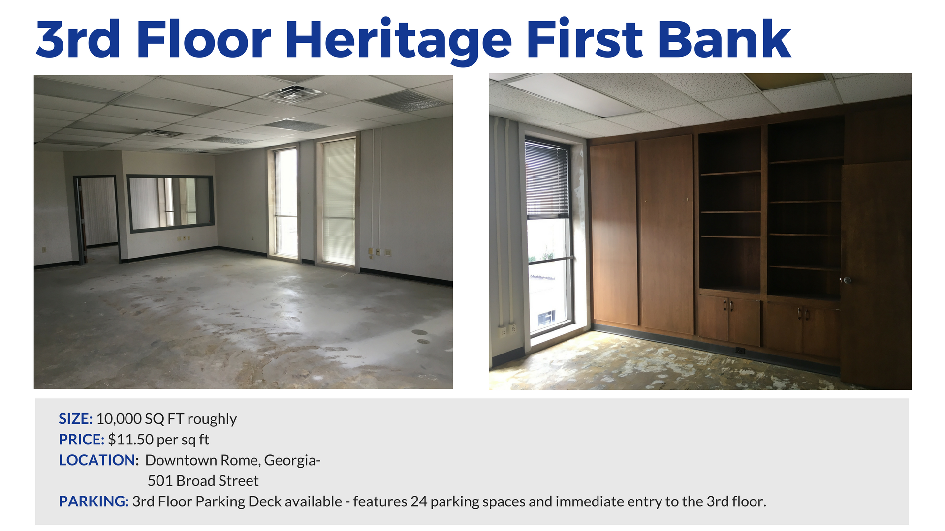 Heritage First Bank Rome, GEORGIA Commercial Building office space Floyd County