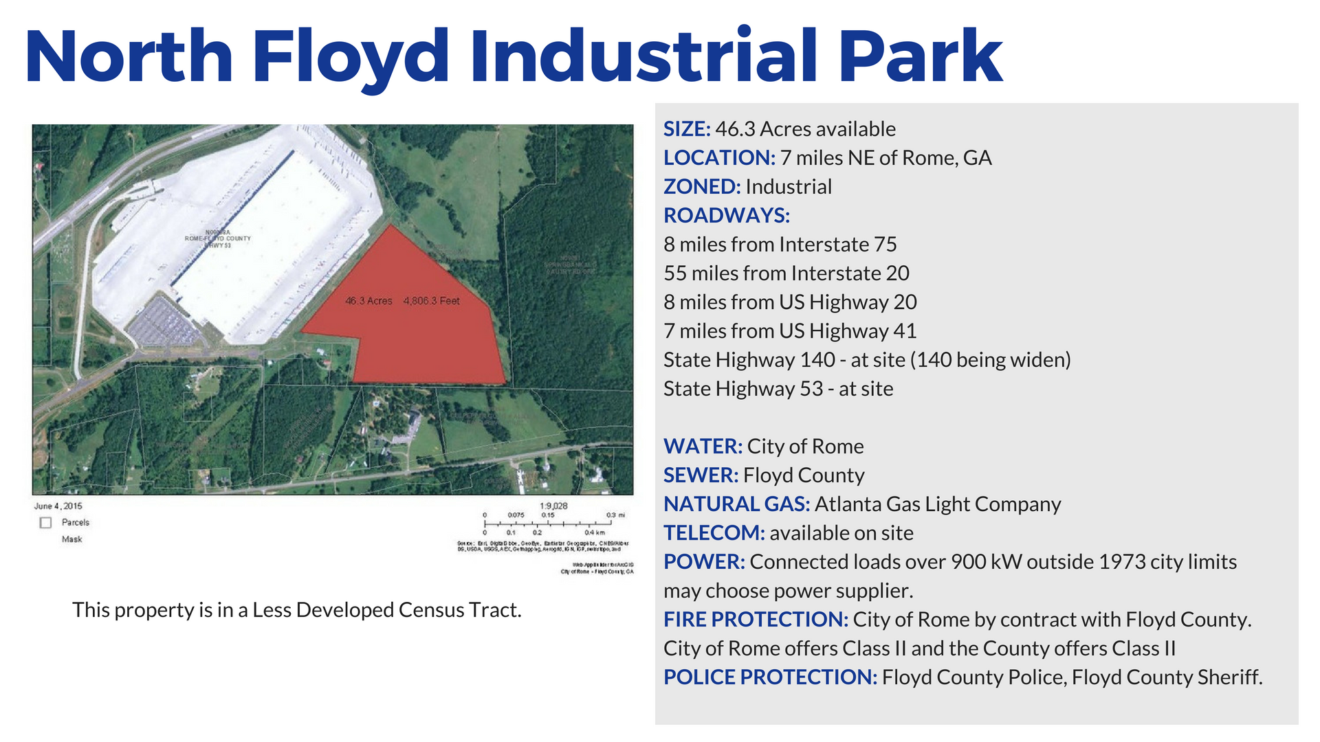 North-Floyd-Industrial-Rail-Site in Rome and Floyd County Georgia