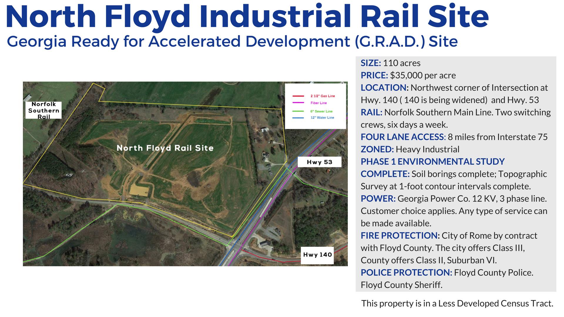 North Floyd Rail Site in Rome and Floyd County Georgia