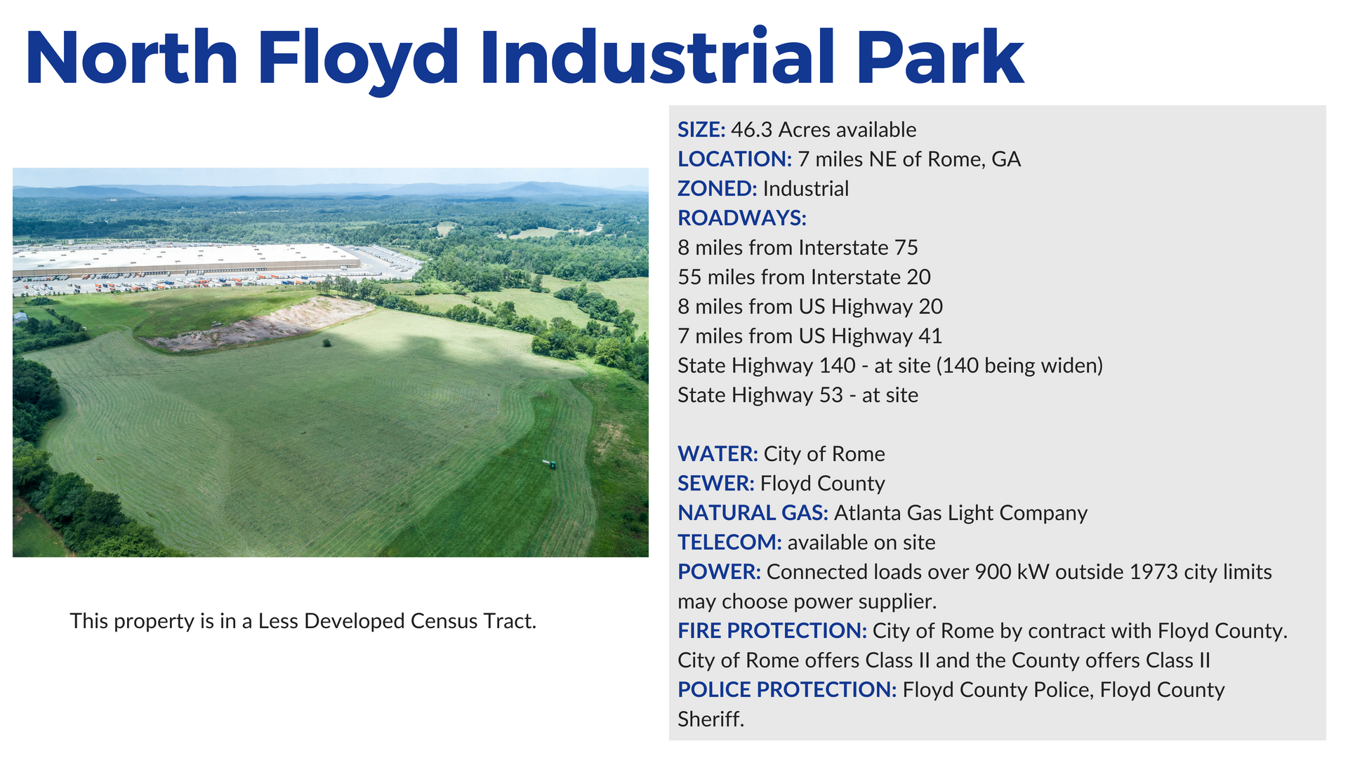 North-Floyd-Industrial-Rail-Site in Rome and Floyd County Georgia