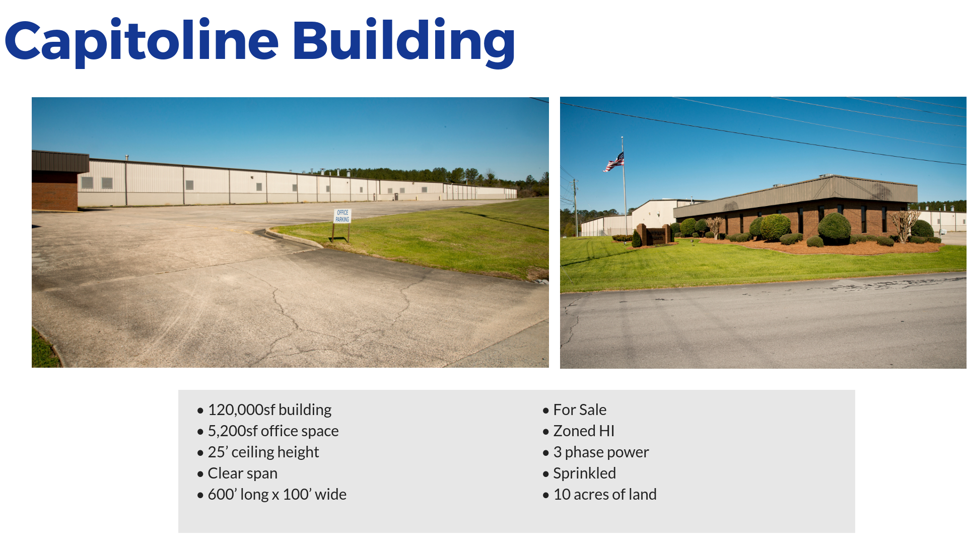 Capitoline Building Available buildings in Rome and Floyd County Georgia