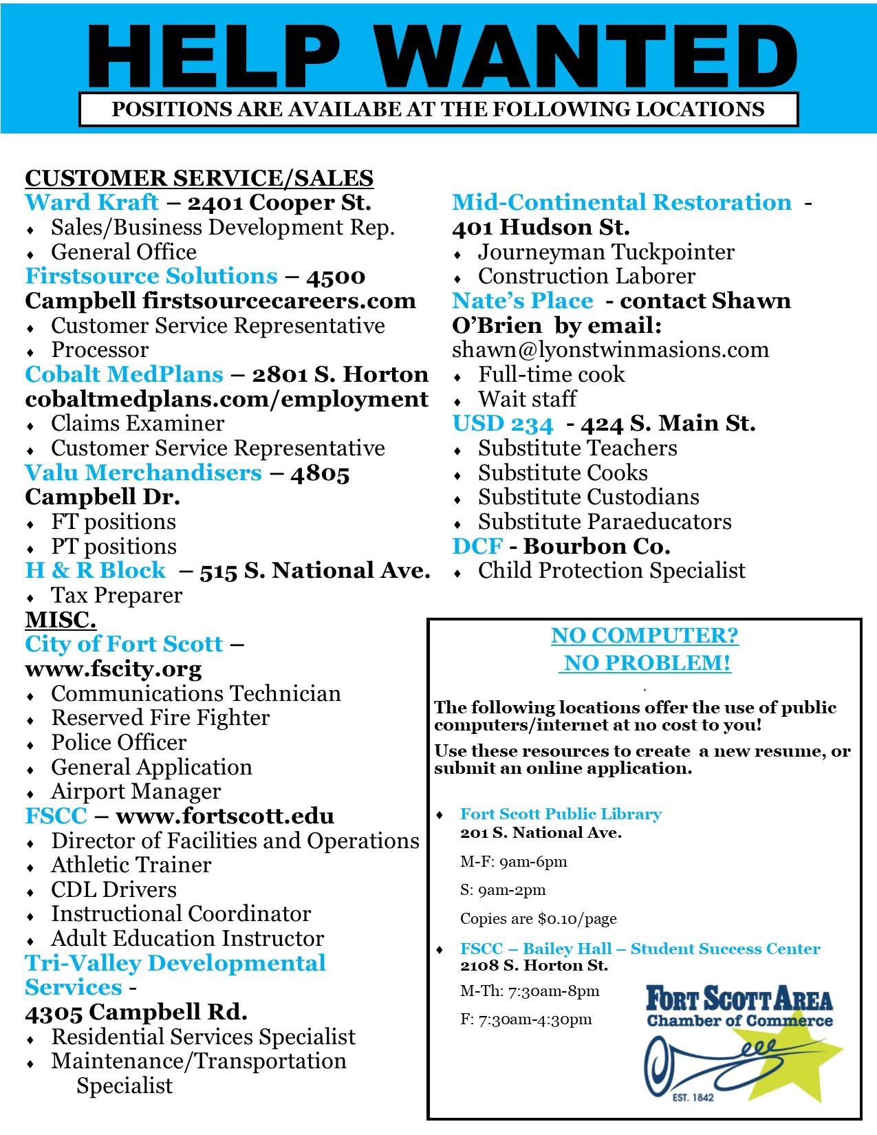 September Job Flyer