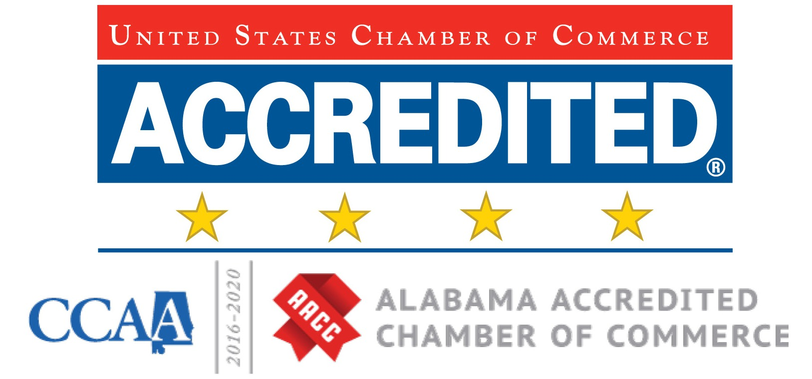 United State Chamber of Commerce Accredited & State Accredited logo