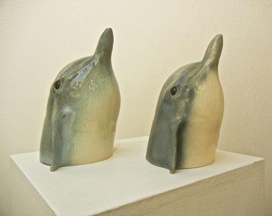 "Paul Maeding, ""Dolphins,"" stoneware"