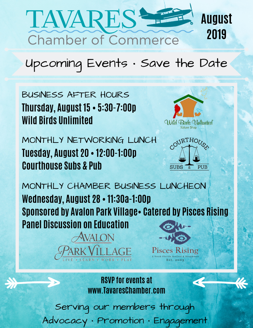 What's Going On In August? Click Flyer Below for More Information!