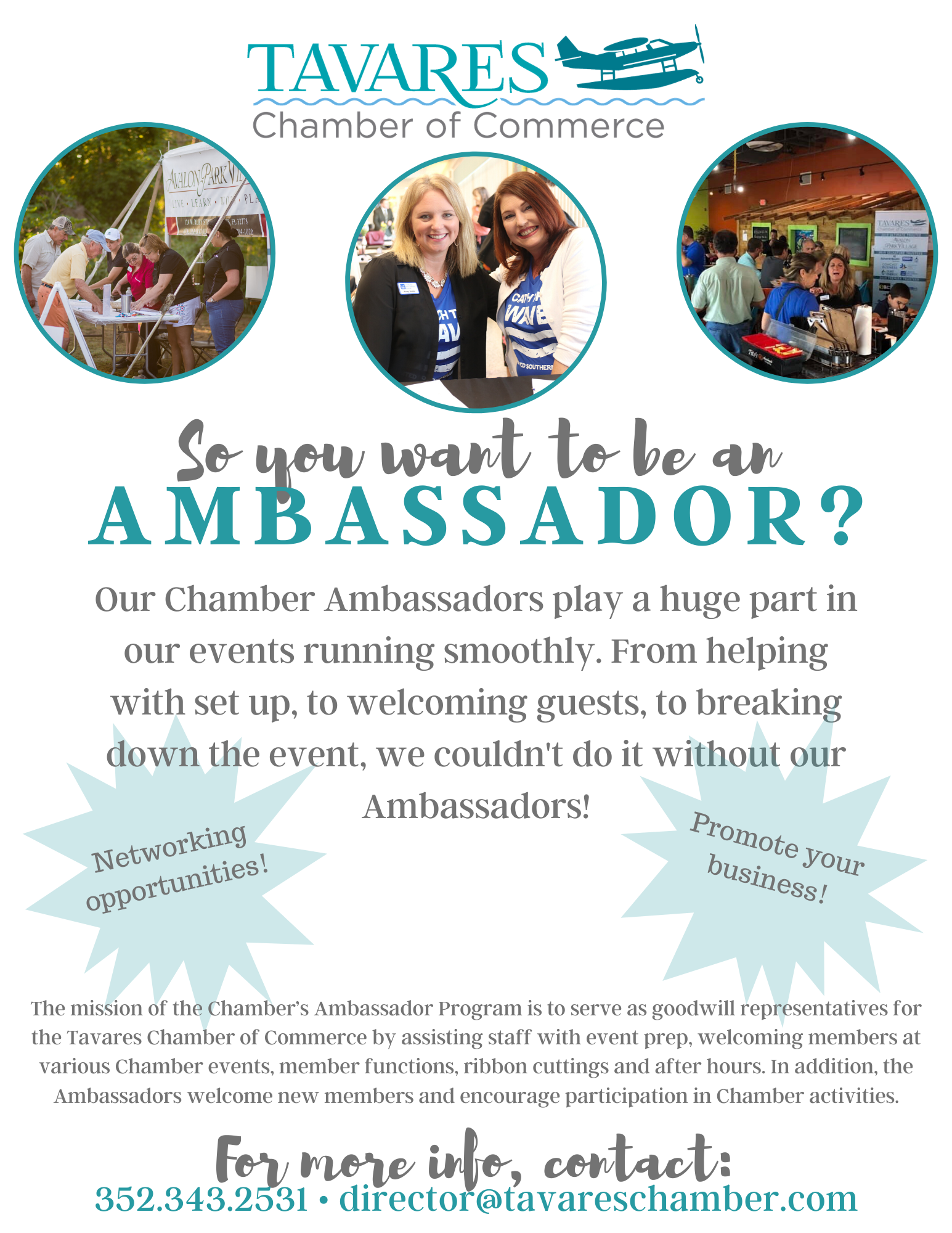 So you want to be an Ambassador?