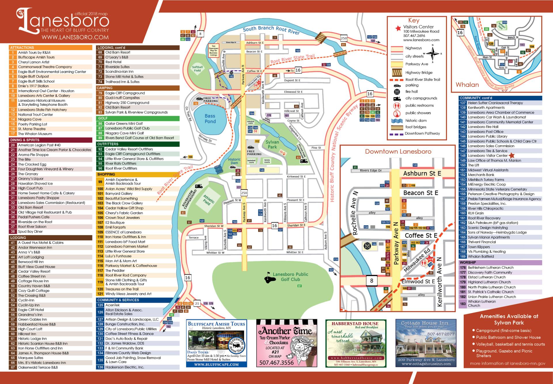 Lanesboro City Map