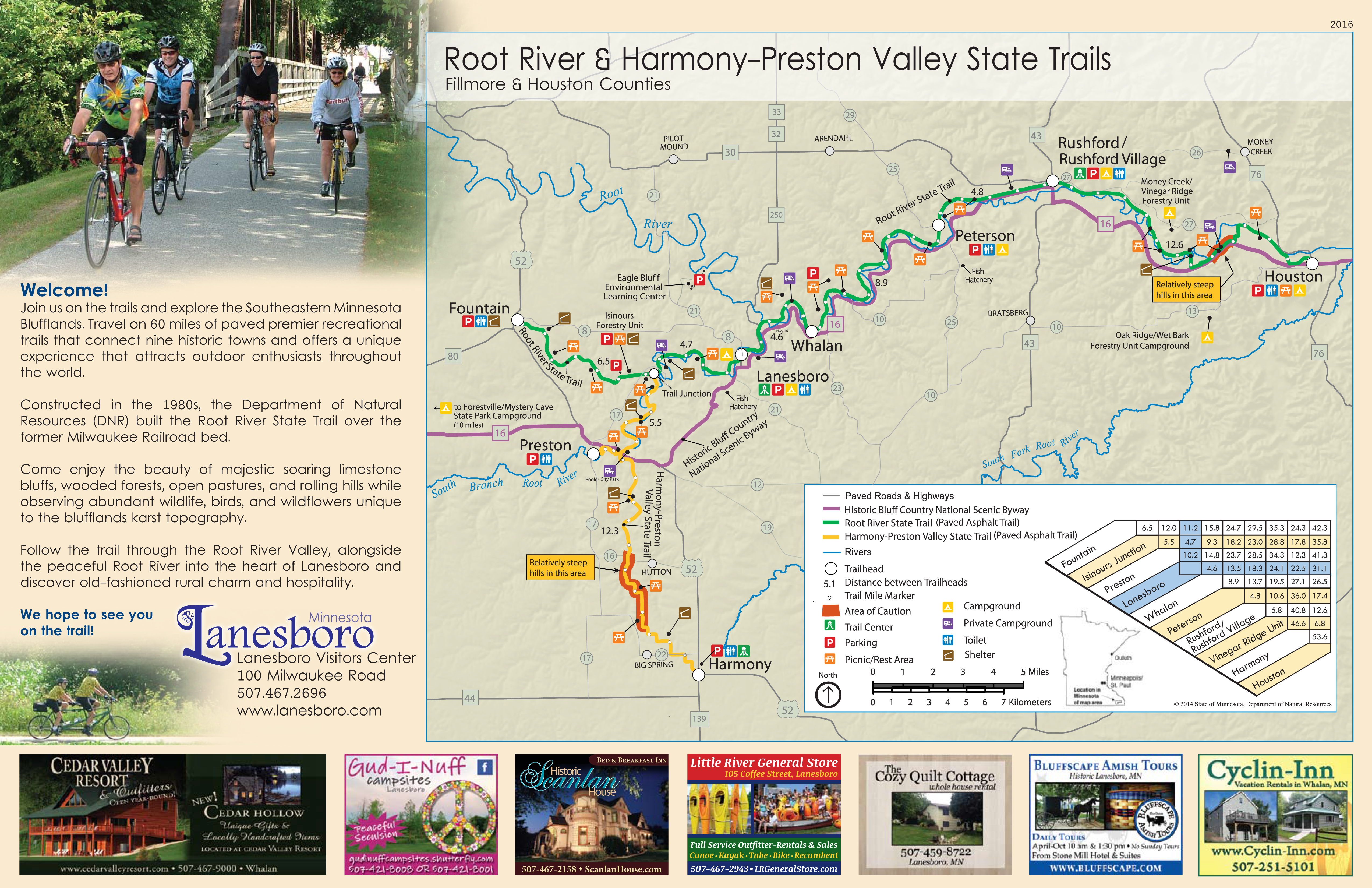 Root River Bike Trail Lanesboro Chamber Of Commerce Mn