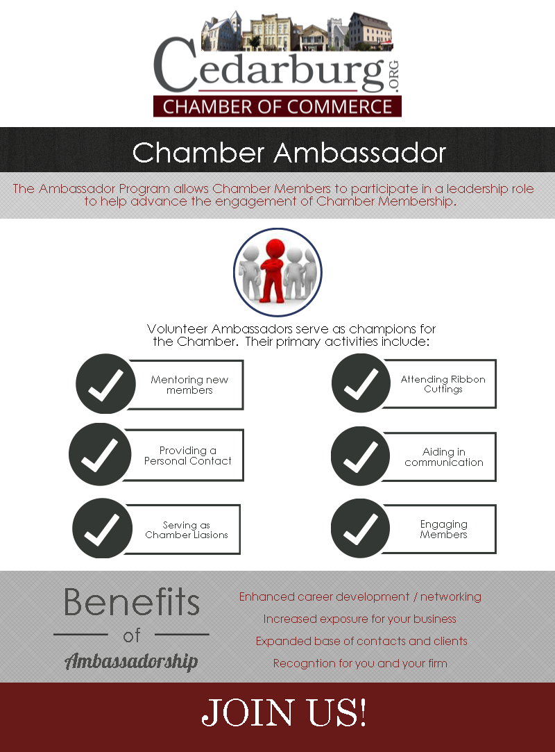 Chamber Ambassador Program Info Graphic