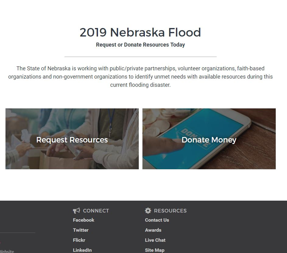 "Gov. Ricketts Unveils New ""Nebraska Strong"" Relief Website"