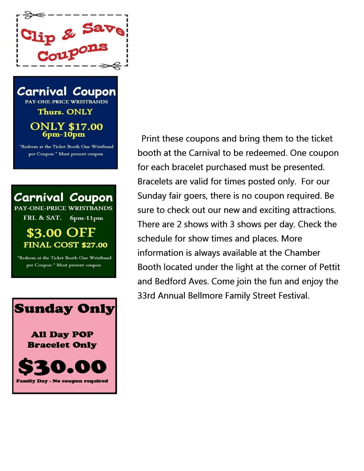 image relating to Jump Street Printable Coupons identify Occasions and Program - Chamber of Commerce of the Bellmores, NY
