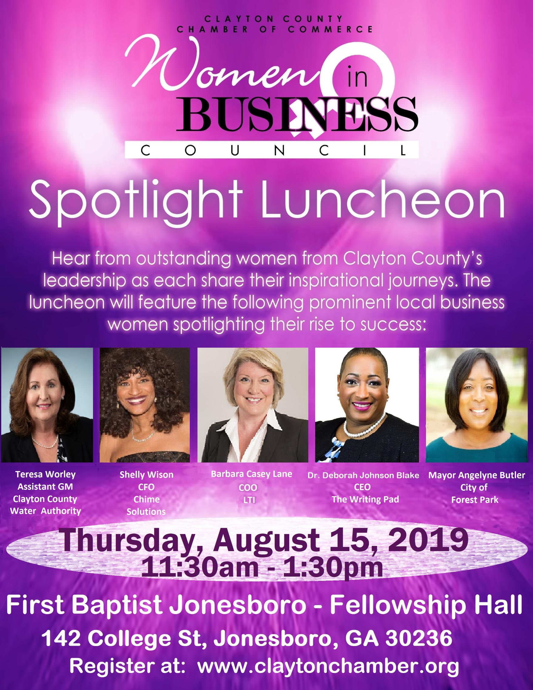 Women in Business Council Spotlight Luncheon - 2019 - Aug 15, 2019