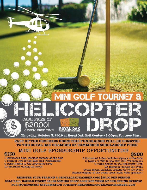 Mini Golf Tournament & Helicopter Drop