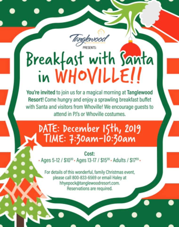 Tanglewood Resorts Breakfast With Santa