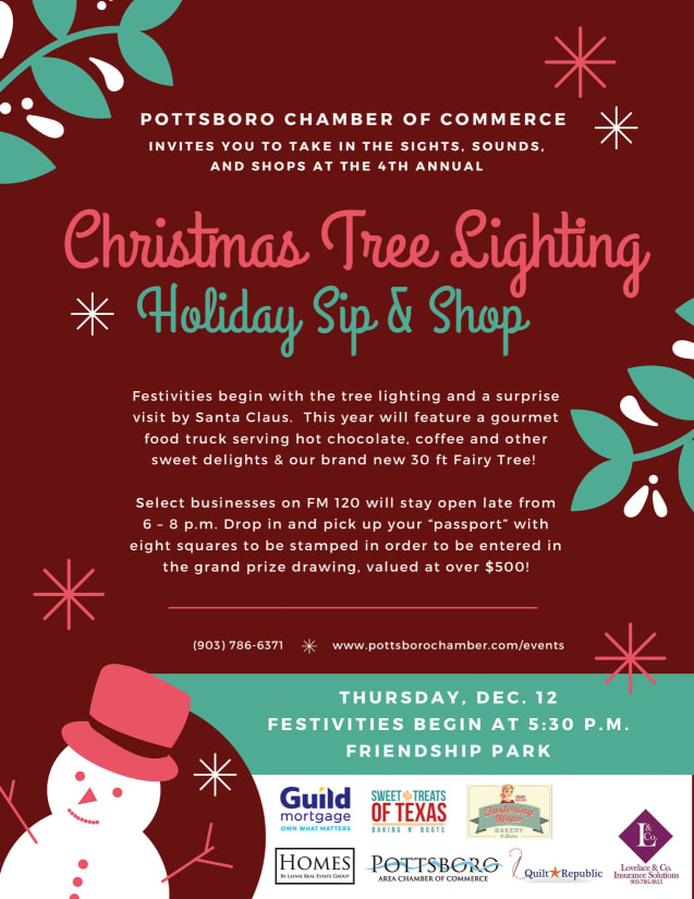 2019 Tree Lighting and Sip and Shop