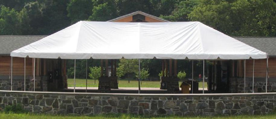 Standard Booths - Large Tent with 10'x10' spaces marked