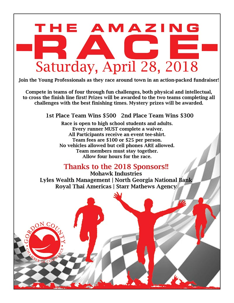 Amazing Race 2018 Event Flyer