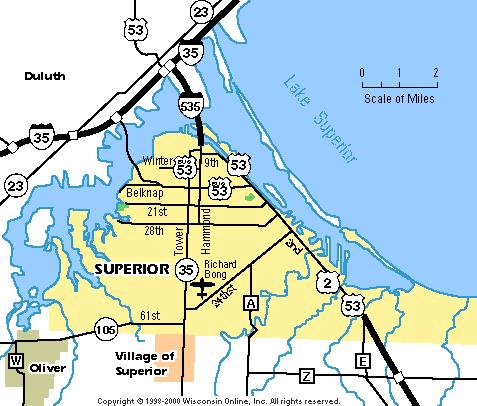 Maps Superior Chamber Visitors Bureau Wi