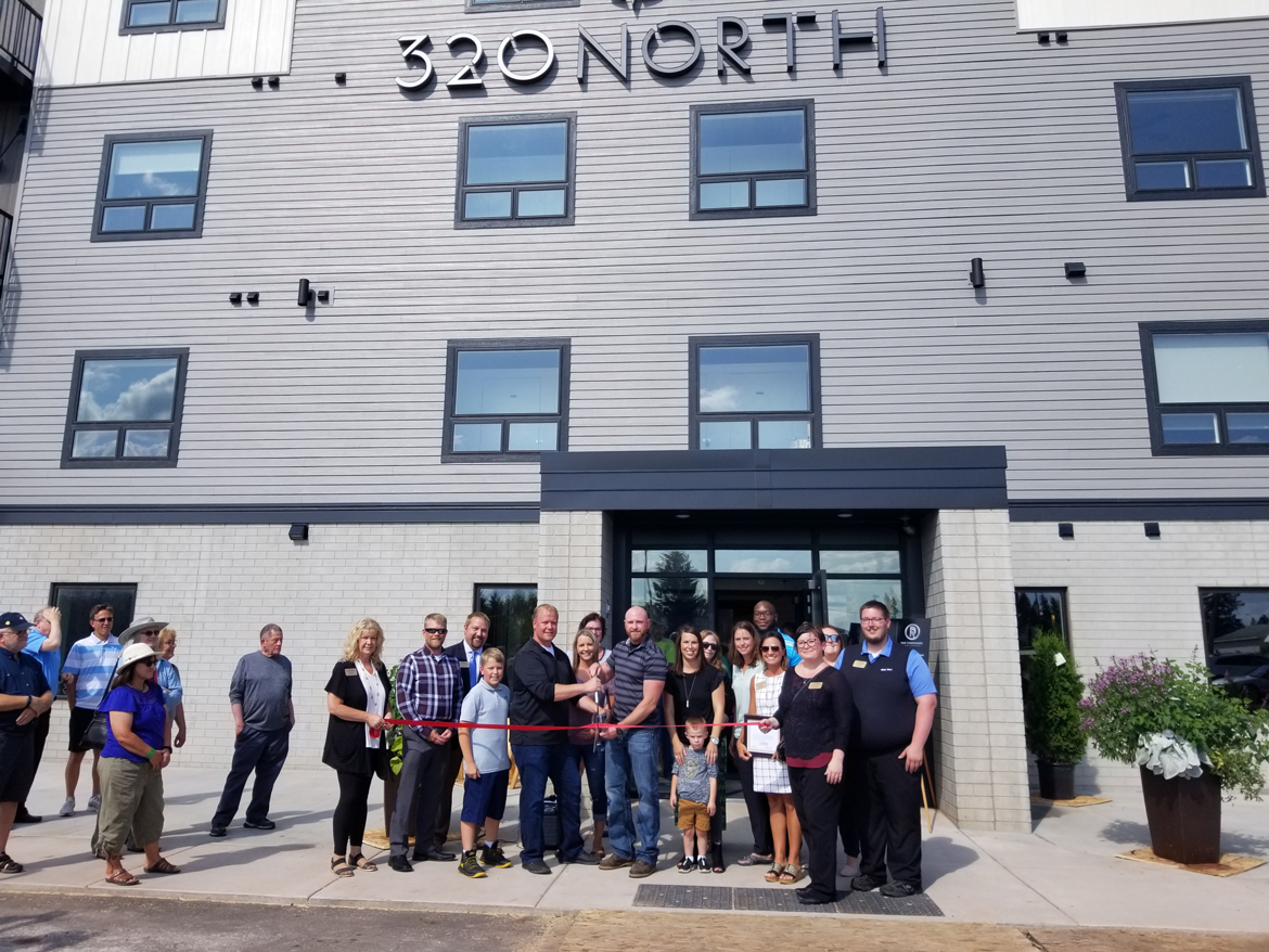 Ribbon Cutting for 320 North, a new apartment complex in Superior, Wisconsin.