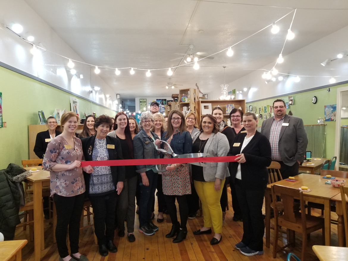 Pottery Burn Studio Ribbon cutting