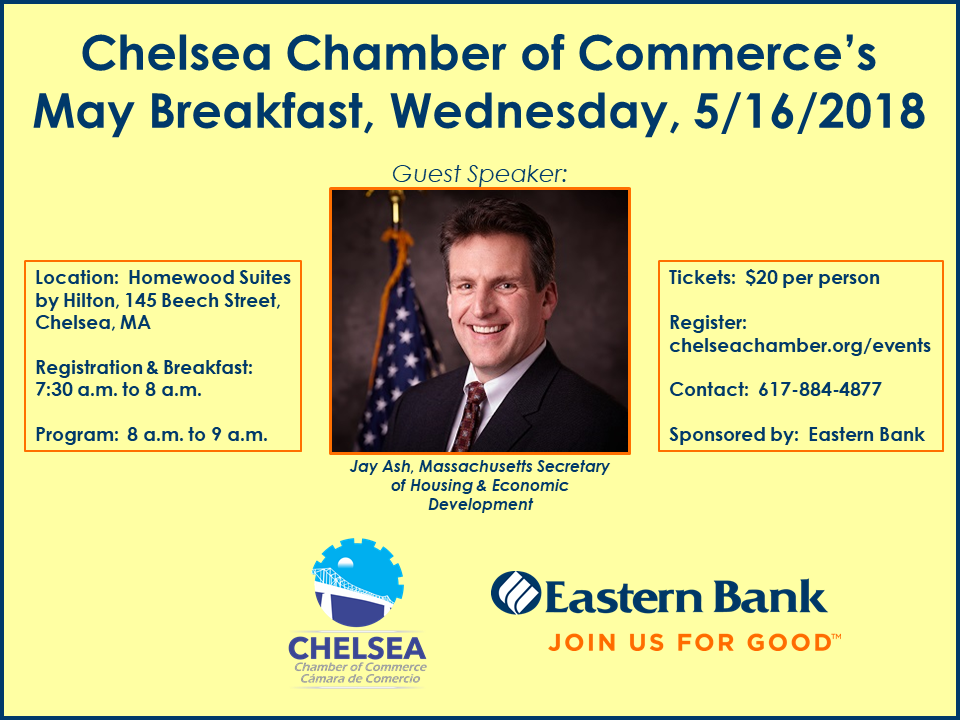 Chelsea Chamber May Breakfast with Jay Ash