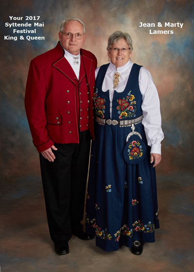 2017 Syttende Mai Festival King and Queen, Jean and Marty Lamers