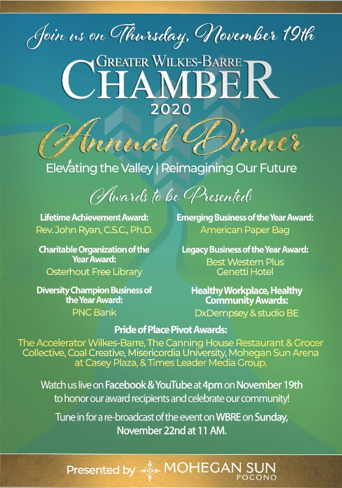 2020 Annual Dinner Flyer