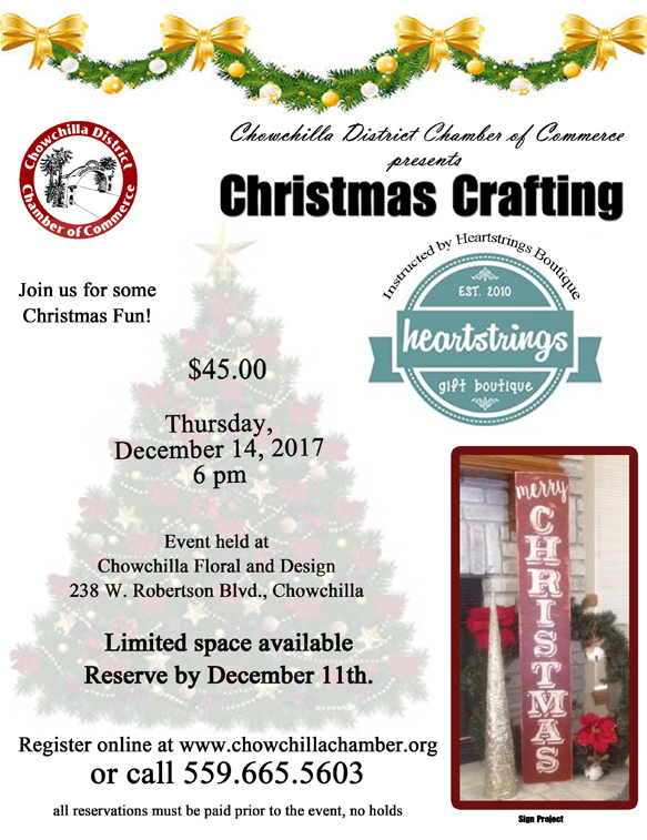Chamber Christmas Craft Event