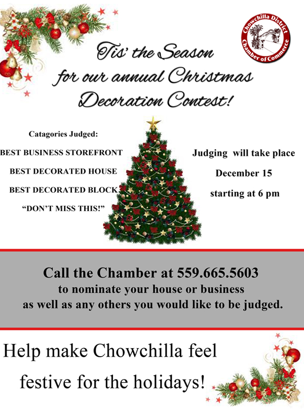 Christmas Decoration Contest is underway!