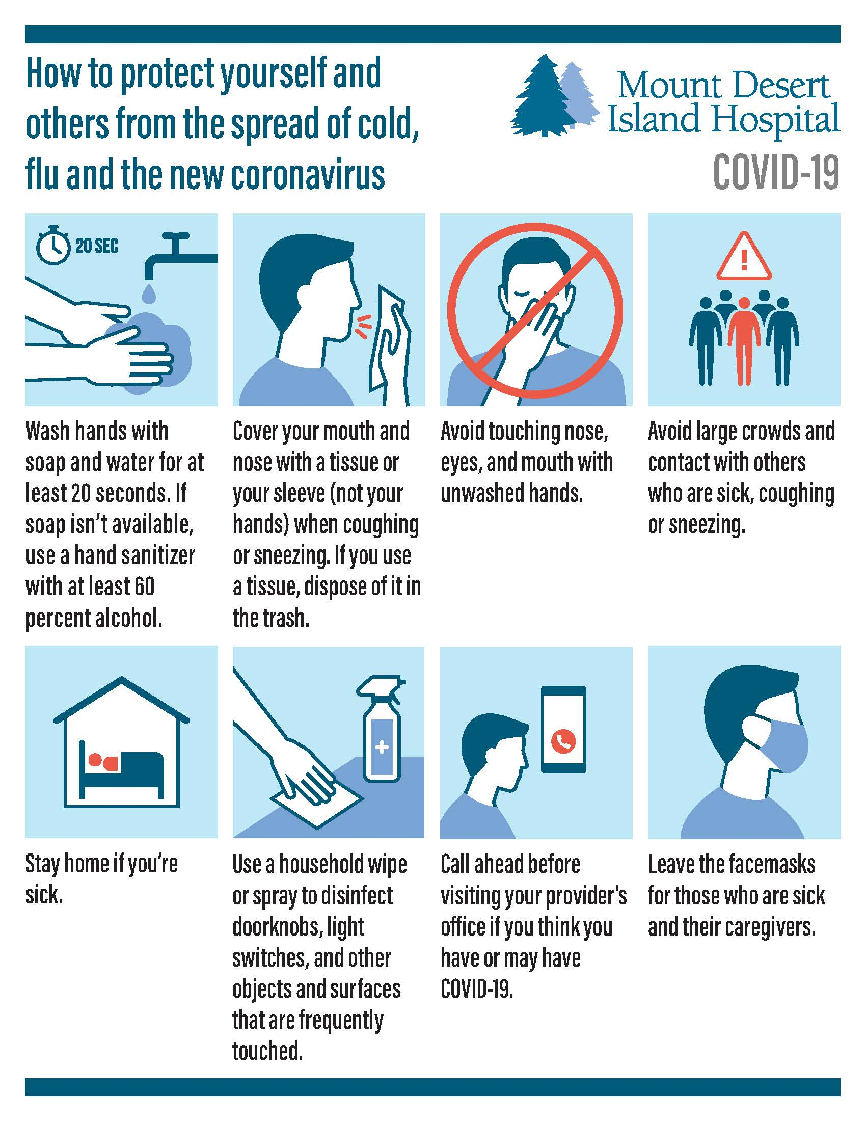 MDI-Hospital Public Coronavirus Prevention Tips