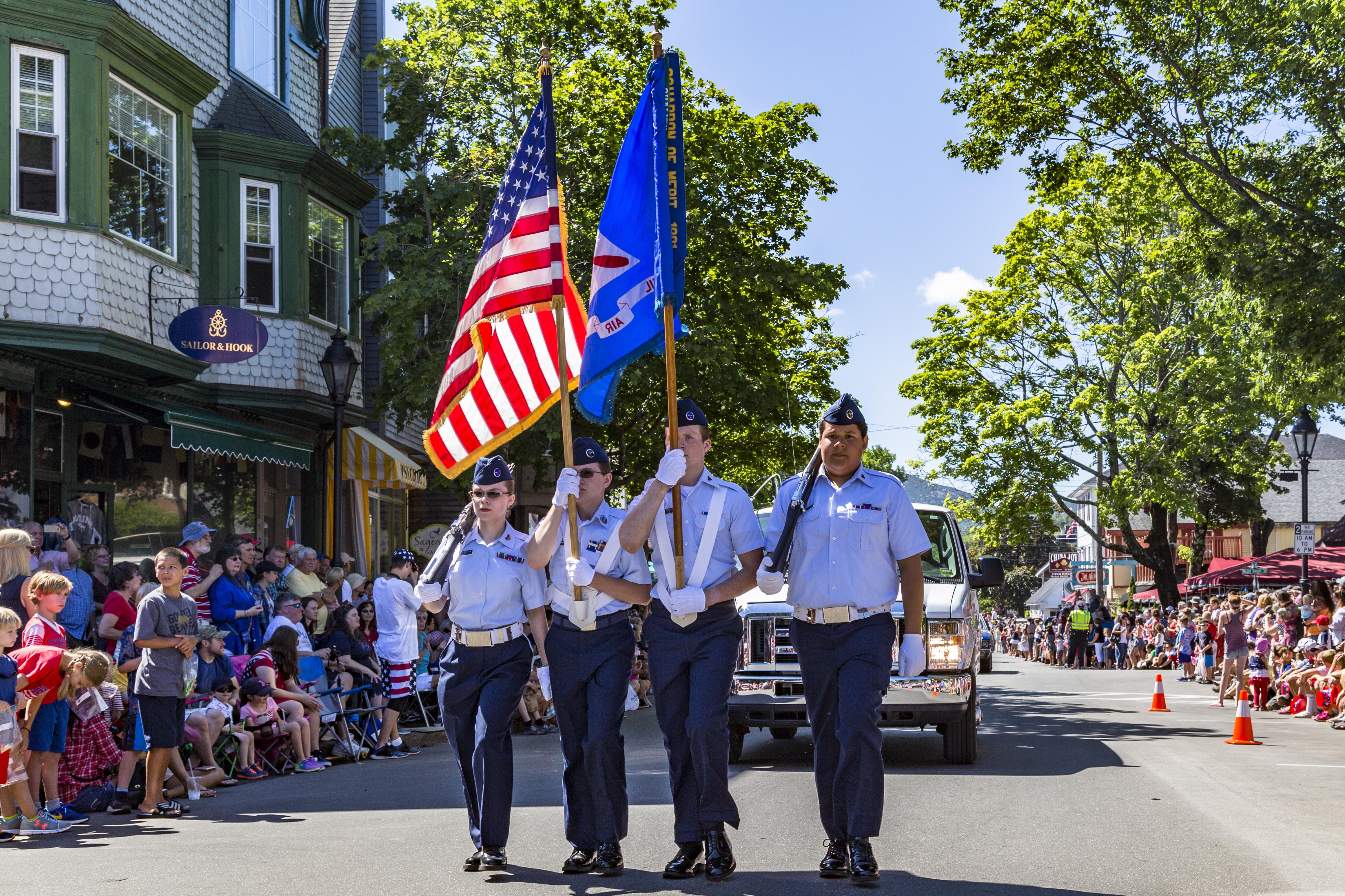July 4th in Bar Harbor Maine, Acadia National Park - Bar