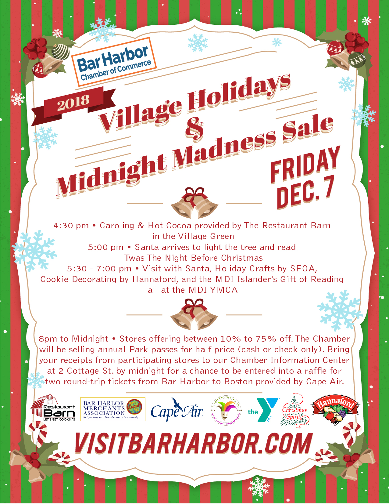 Village Holidays and Midnight Madness Sale