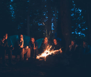 Spend an evening by the campfire in Bar Harbor Maine
