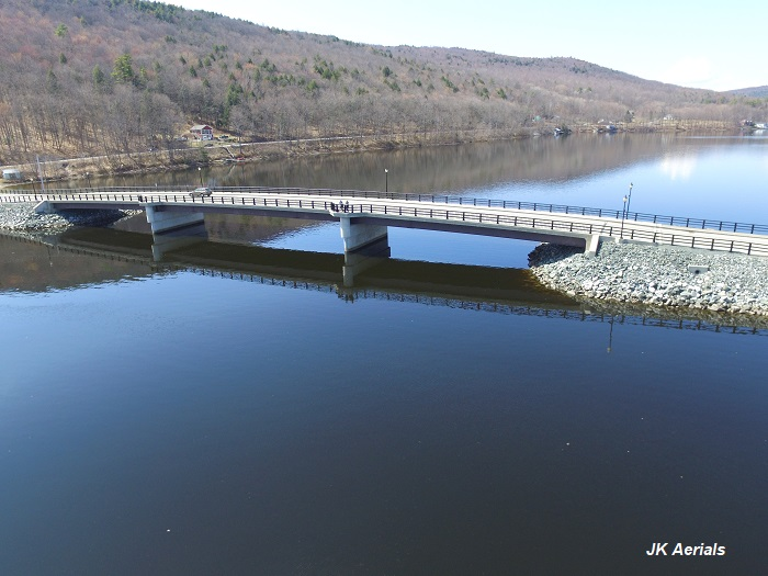 Mascoma Lake Early Spring. Photo by JK Aerials