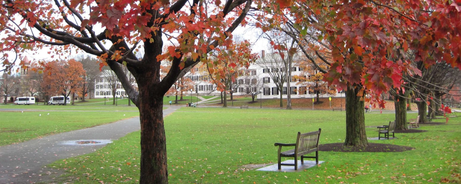 background image of fall at Dartmouth College