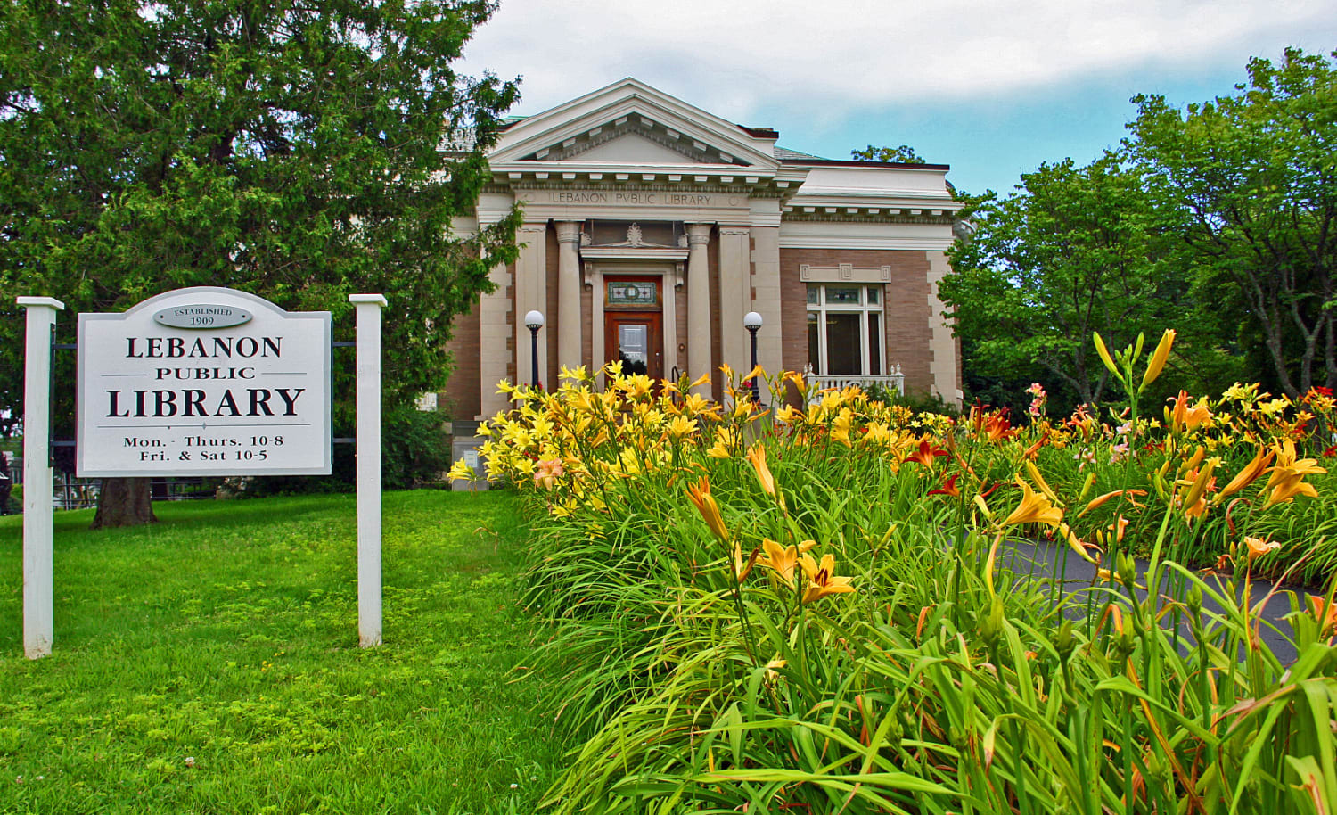 Spring at the Lebanon Library by David Nelson