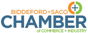 The Biddeford + Saco Chamber of Commerce + Industry Logo