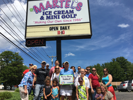 Martels Ice Cream and Mini Golf Got Cash Mobbed.