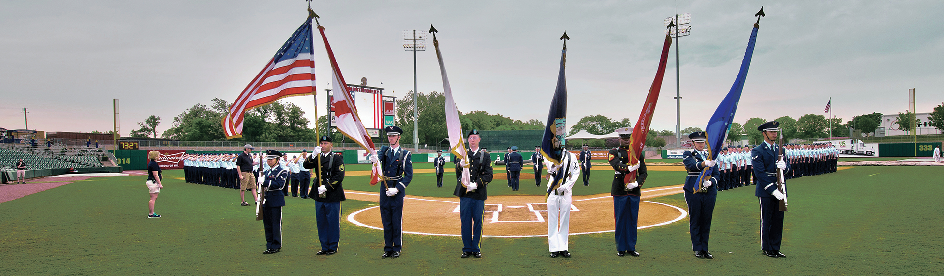 Military Salute at Riverwalk Stadium, Montgomery Biscuits, Montgomery Alabama, Montgomery Area Chamber of Commerce, Montgomery Chamber, MGMChamber, Military