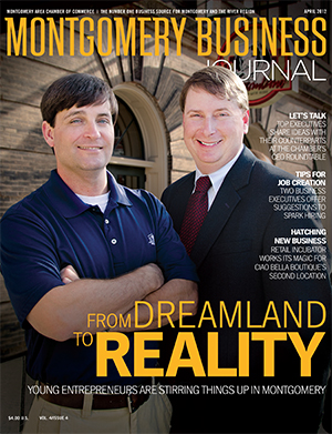 April 2012 MBJ, Montgomery Business Journal, Montgomery Chamber, Dreamland Barbecue, Young Entrepreneurs