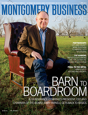 April 2013 MBJ, Montgomery Business Journal, Montgomery Chamber, Alfa Insurance, Jimmy Parnell
