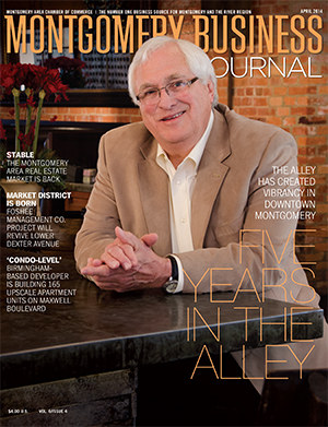 April 2014 MBJ, Montgomery Business Journal, Montgomery Chamber, Jerry Kyser, Alley Station