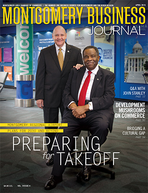 April 2015 MBJ, Montgomery Business Journal, Montgomery Chamber, Montgomery Regional Airport