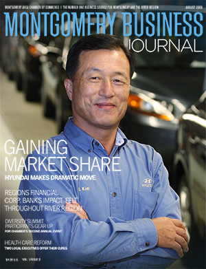 August 2009 MBJ, Montgomery Business Journal, Montgomery Chamber, Hyundai Motor Manufacturing Alabama