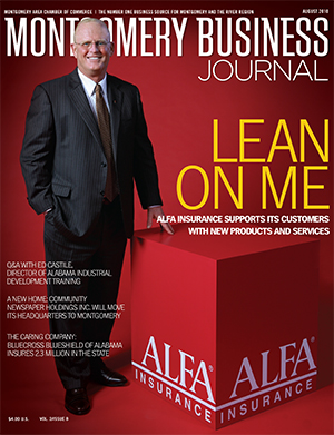 August 2010 MBJ, Montgomery Business Journal, Montgomery Chamber, Alfa Insurance, Jerry Newby