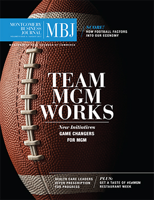 August 2017 MBJ, Montgomery Business Journal, Montgomery Chamber, Team MGM, Working Together