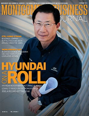 February 2011 MBJ, Montgomery Business Journal, Montgomery Chamber, Hyundai Motor Manufacturing Alabama