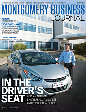 February 2012 MBJ, Montgomery Business Journal, Montgomery Chamber, Hyundai Motor Manufacturing Alabama